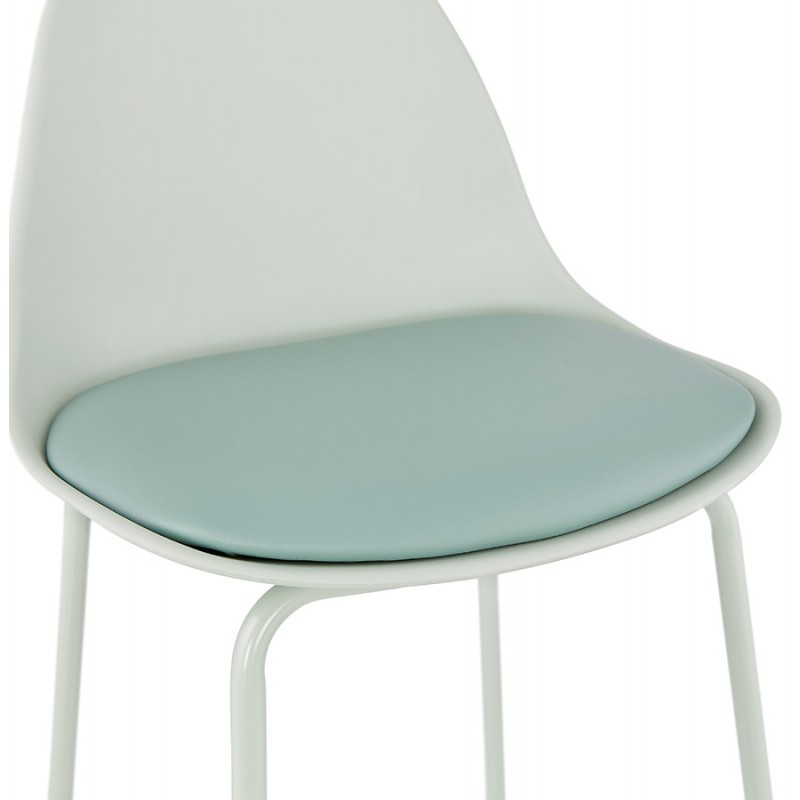 Tabouret de bar chaise de bar industriel pieds vert clair OCEANE (vert clair) - image 46030