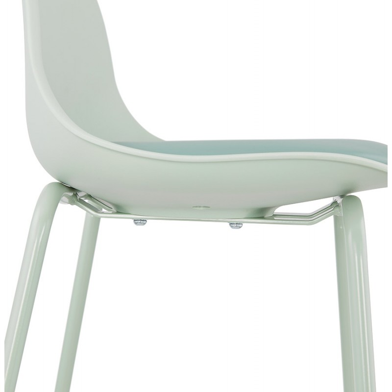 Tabouret de bar chaise de bar industriel pieds vert clair OCEANE (vert clair) - image 46032