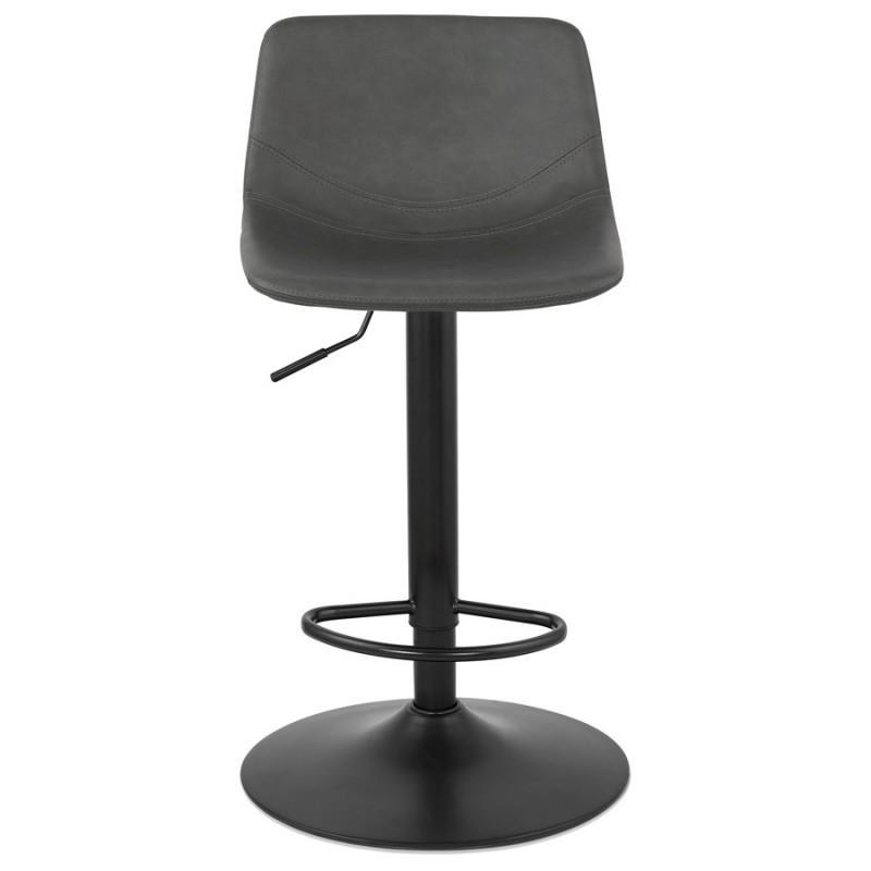 Tabouret de bar vintage rotatif et réglable pieds noirs MAX (gris foncé) - image 46081