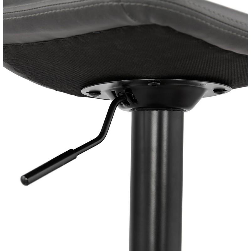 Tabouret de bar vintage rotatif et réglable pieds noirs MAX (gris foncé) - image 46085