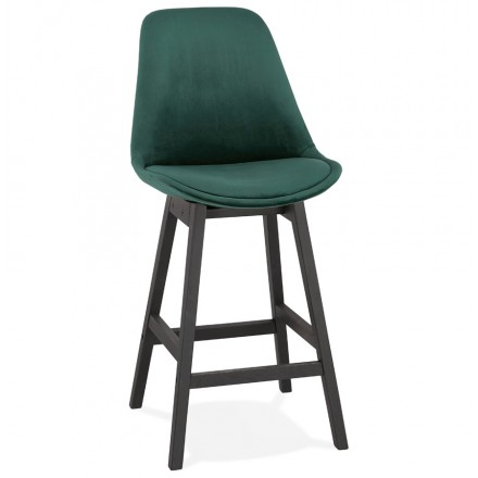 Design del set di barre a mezza altezza in velluto nero piedi CAMY MINI (verde)