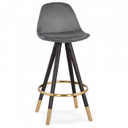 Mid-height bar set design in velvet black and gold NEKO MINI feet (grey)