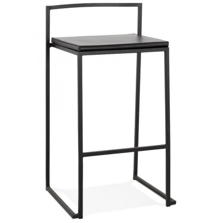 Industrial mid-height bar bar pad stackable black feet LOIRET MINI (black)