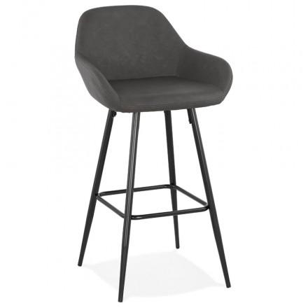 Barra de barra de diseño silla de la barra de pie negro NARNIA (gris oscuro)