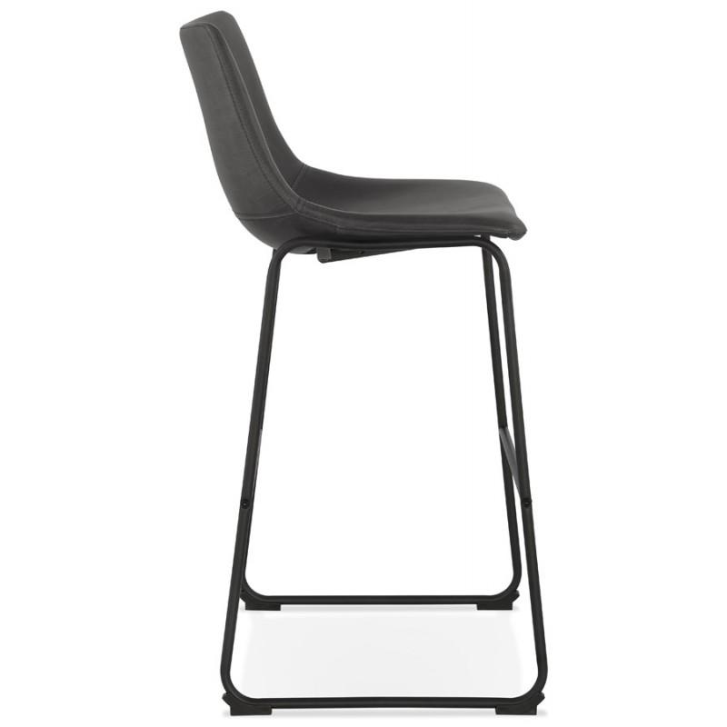 Tabouret de bar chaise de bar vintage pieds noirs JOE (gris foncé) - image 46224