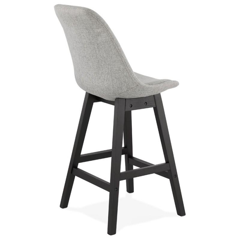 Tabouret de bar chaise de bar mi-hauteur design pieds noirs ILDA MINI (gris clair) - image 46288
