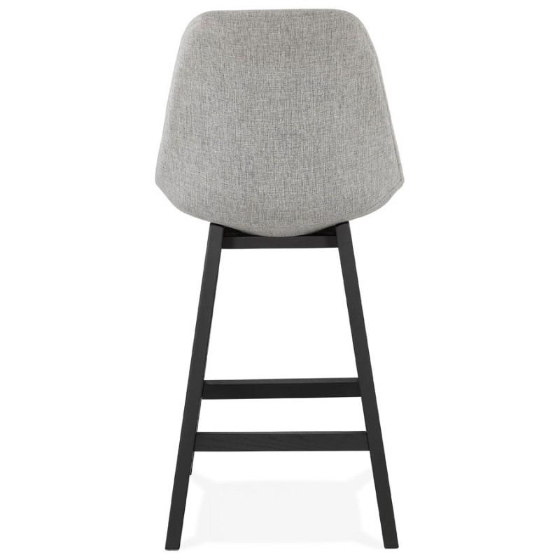 Tabouret de bar chaise de bar mi-hauteur design pieds noirs ILDA MINI (gris clair) - image 46289