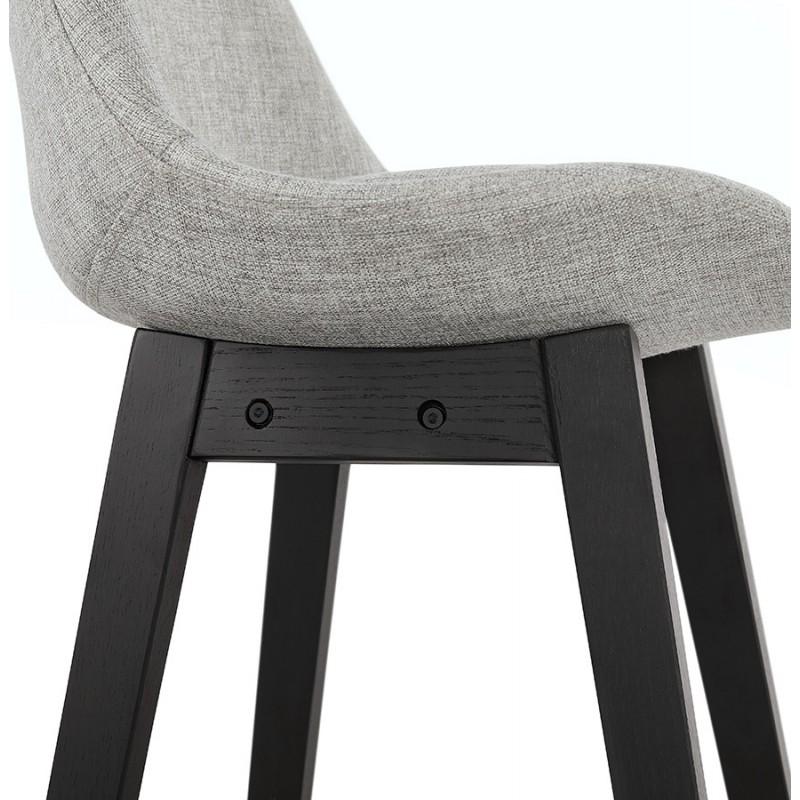 Tabouret de bar chaise de bar mi-hauteur design pieds noirs ILDA MINI (gris clair) - image 46292
