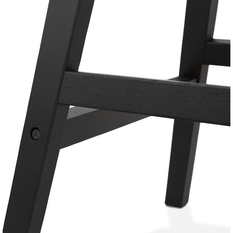 Tabouret de bar chaise de bar mi-hauteur design pieds noirs ILDA MINI (gris clair) - image 46293