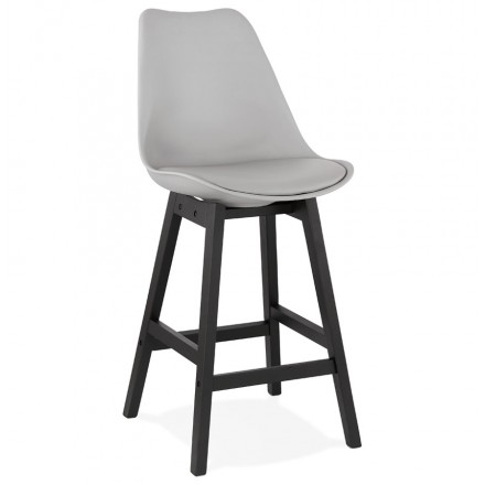 Bar bar set bar bar half-height design black feet DYLAN MINI (light grey)