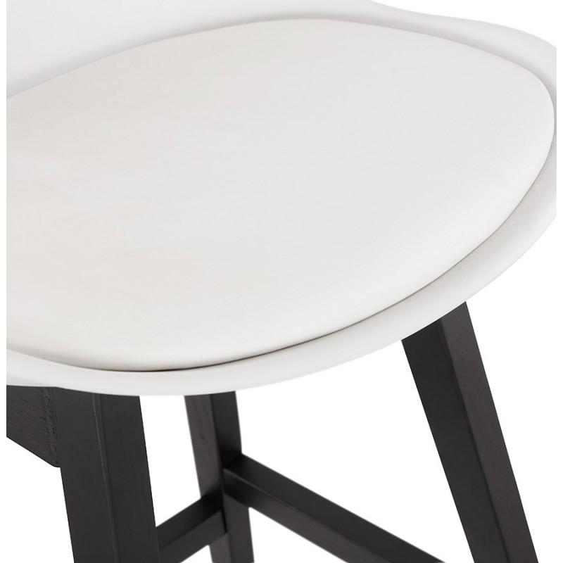 Tabouret de bar chaise de bar mi-hauteur design pieds noirs DYLAN MINI (blanc) - image 46311