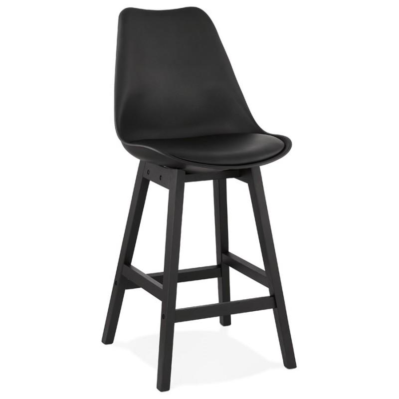 Tabouret de bar chaise de bar mi-hauteur design pieds noirs DYLAN MINI (noir) - image 46315