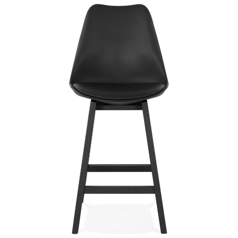 Tabouret de bar chaise de bar mi-hauteur design pieds noirs DYLAN MINI (noir) - image 46316