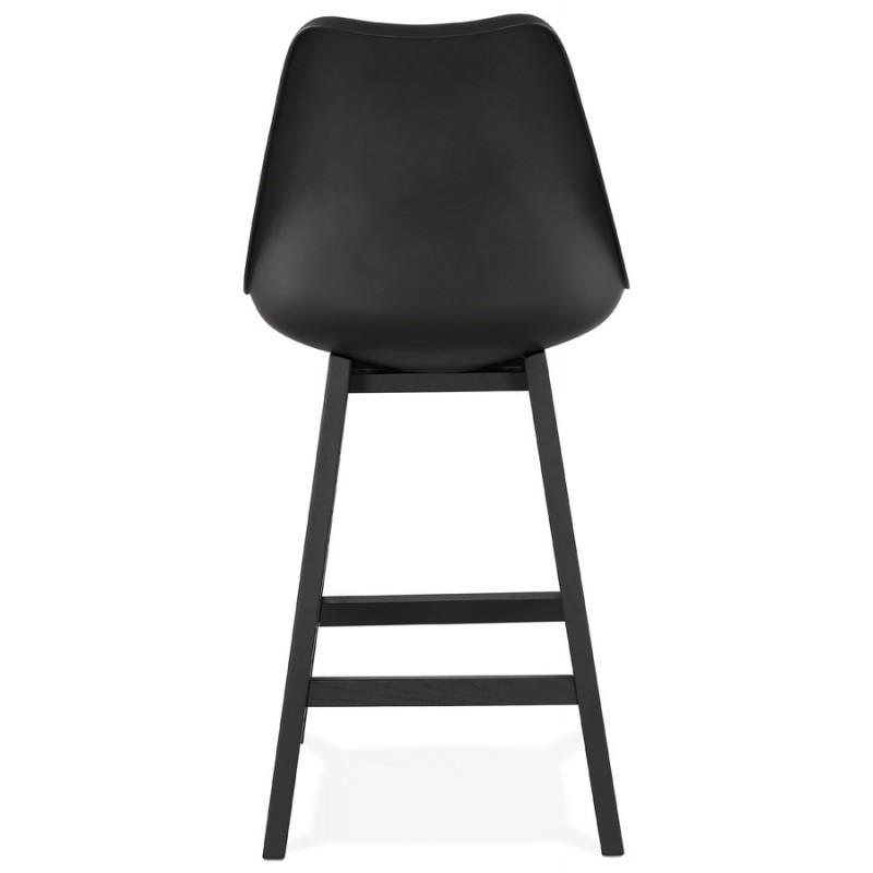 Tabouret de bar chaise de bar mi-hauteur design pieds noirs DYLAN MINI (noir) - image 46319