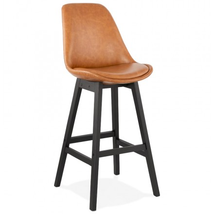 Bar set design bar chair bar black feet DAIVY (light brown)