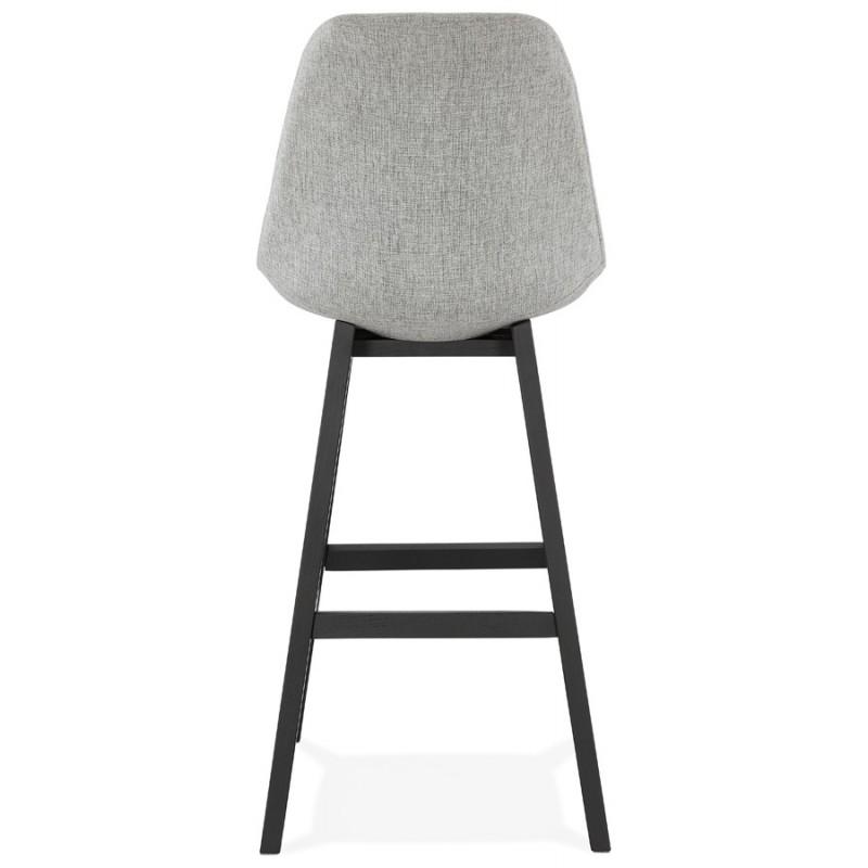 Tabouret de bar chaise de bar pieds noirs ILDA (gris clair) - image 46339