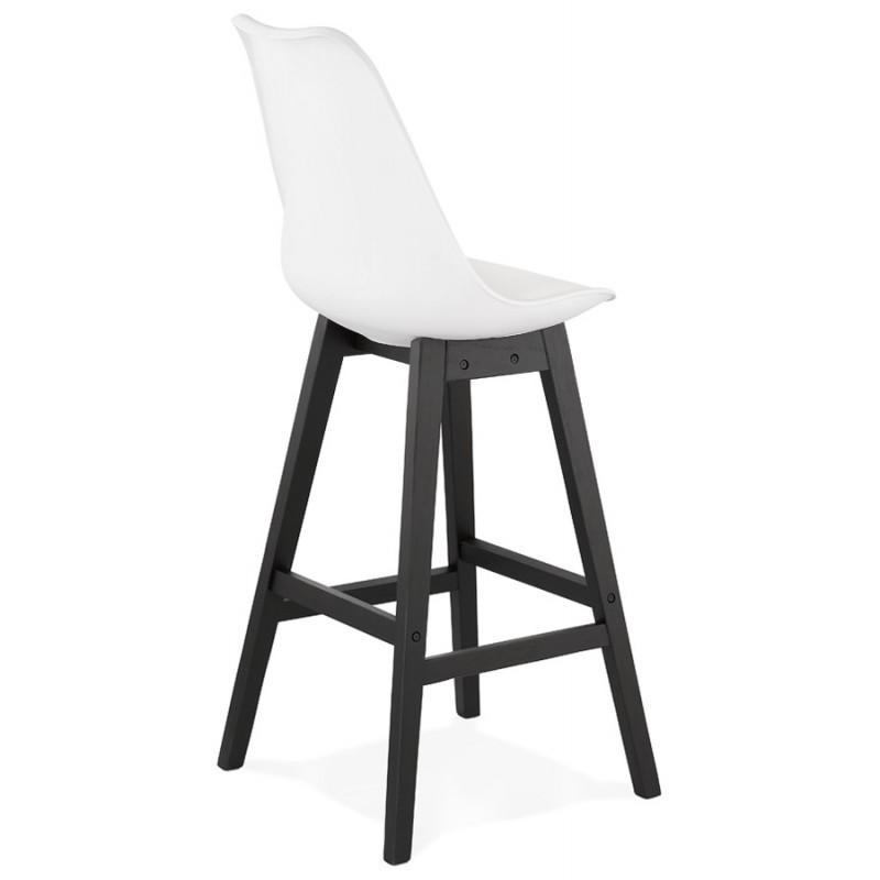 Tabouret de bar chaise de bar pieds noirs DYLAN (blanc) - image 46356