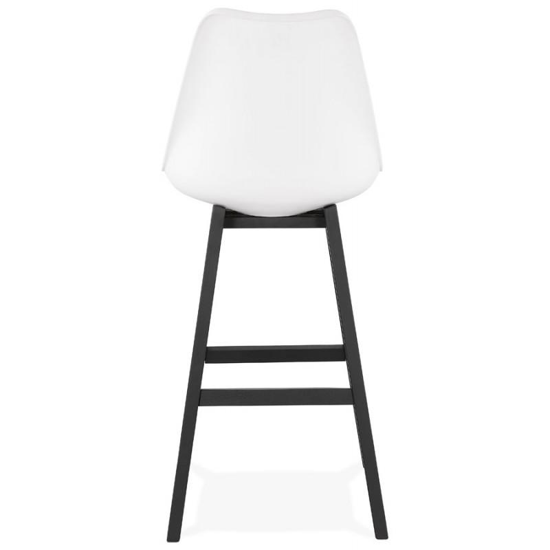 Tabouret de bar chaise de bar pieds noirs DYLAN (blanc) - image 46357