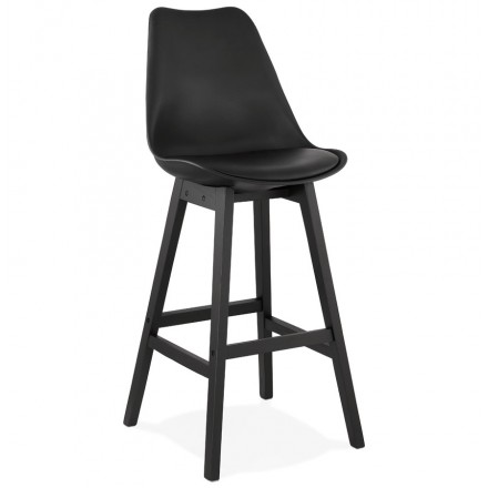 Bar stool bar chair black feet DYLAN (black)