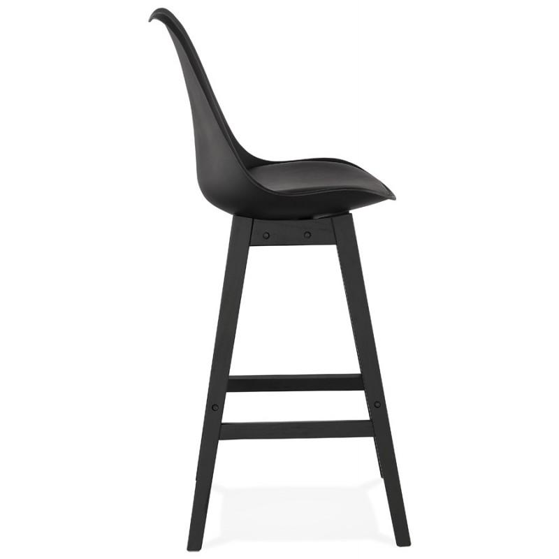 Tabouret de bar chaise de bar pieds noirs DYLAN (noir) - image 46364