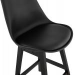 Tabouret de bar chaise de bar pieds noirs DYLAN (noir)