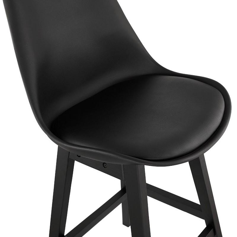 Tabouret de bar chaise de bar pieds noirs DYLAN (noir) - image 46367