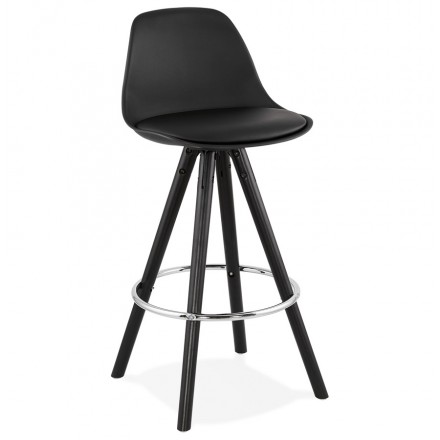 Almohadilla de la barra de altura media diseño pies negros OCTAVE MINI (negro)