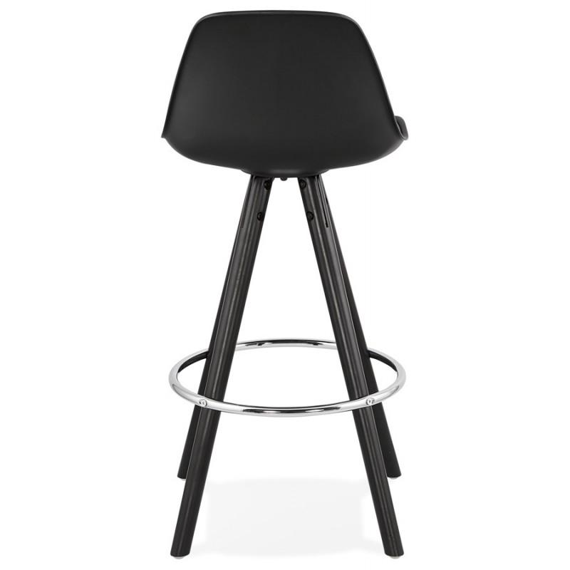 Tabouret de bar mi-hauteur design pieds noirs OCTAVE MINI (noir) - image 46375