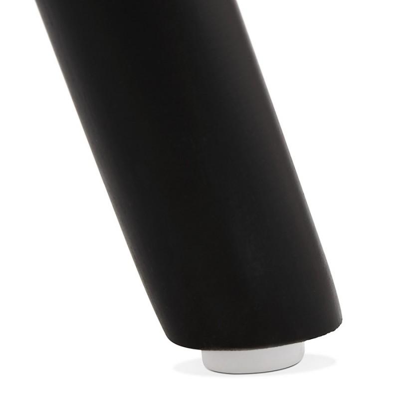 Tabouret de bar mi-hauteur design pieds noirs OCTAVE MINI (noir) - image 46382