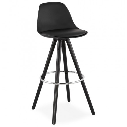 Bar stool  design black feet OCTAVE (black)