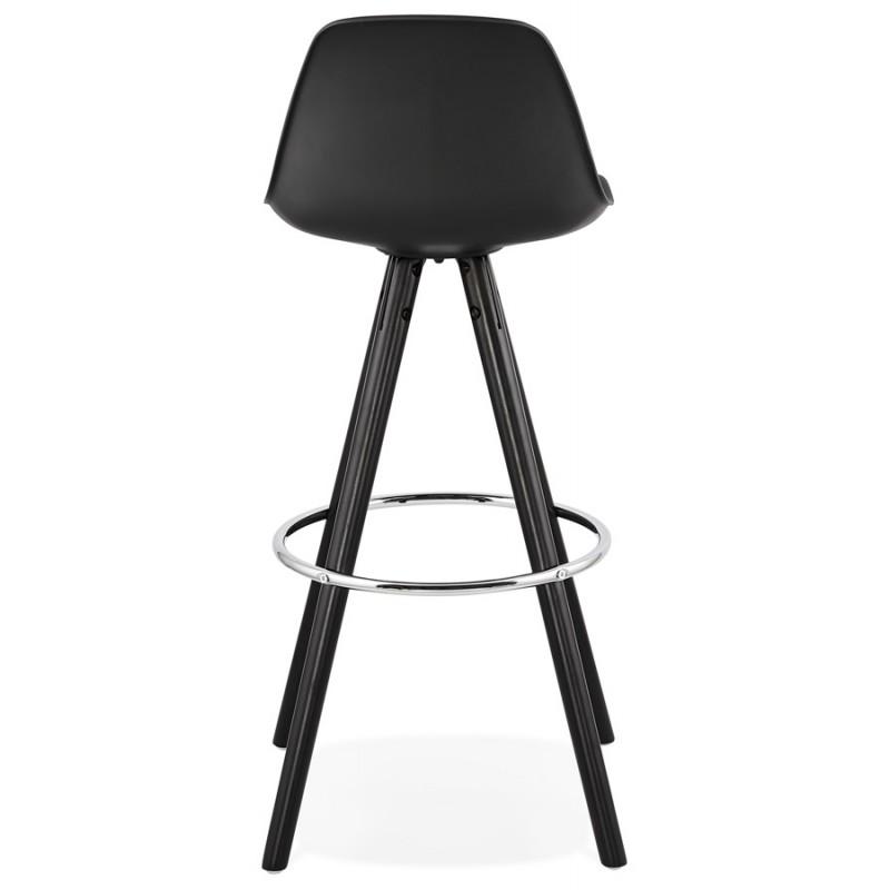 Tabouret de bar chaise de bar design pieds noirs OCTAVE (noir) - image 46387