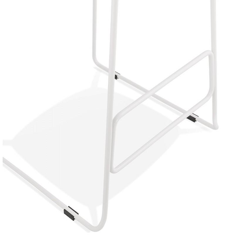 Tabouret de bar chaise de bar en tissu pieds métal blanc CUTIE (gris clair) - image 46432
