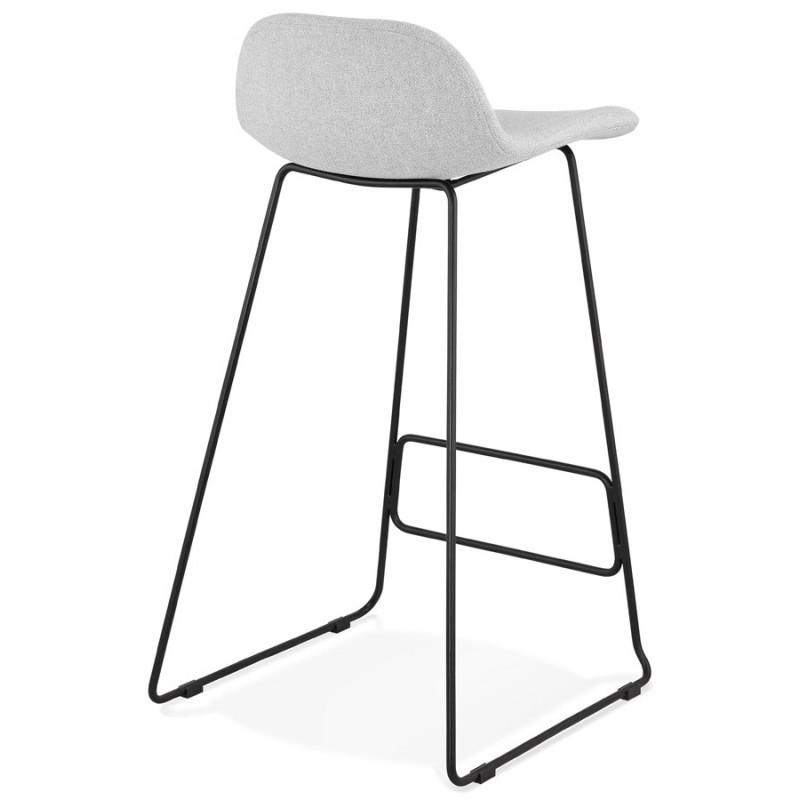 Tabouret de bar chaise de bar industriel en tissu pieds métal noir CUTIE (gris clair) - image 46450