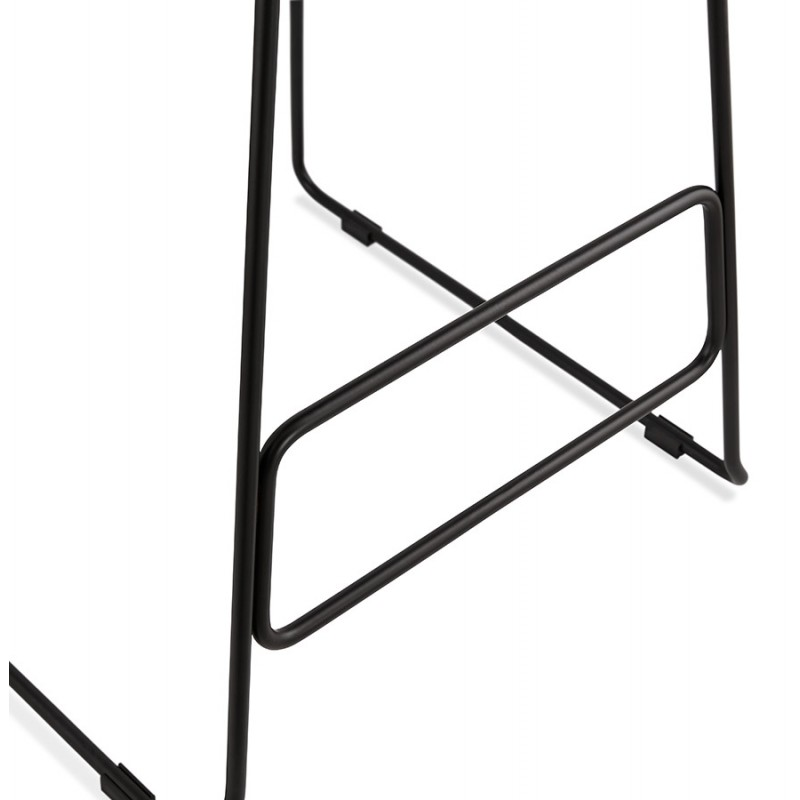 Tabouret de bar chaise de bar industriel en tissu pieds métal noir CUTIE (gris clair) - image 46456