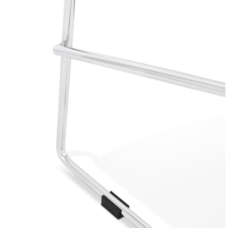 Tabouret de bar chaise de bar scandinave empilable en tissu pieds métal chromé LOKUMA (gris clair) - image 46512