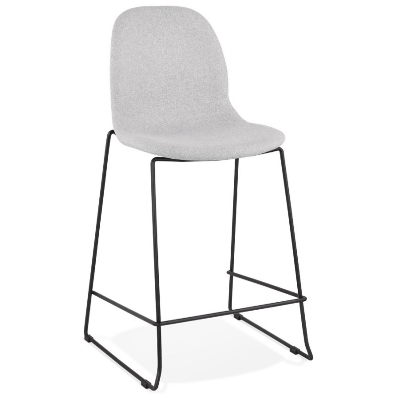 Bar bar snuff bar chair mid-height design stackable in fabric DOLY MINI (light grey) - image 46527