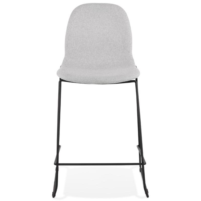 Tabouret de bar chaise de bar mi-hauteur design empilable en tissu DOLY MINI (gris clair) - image 46528
