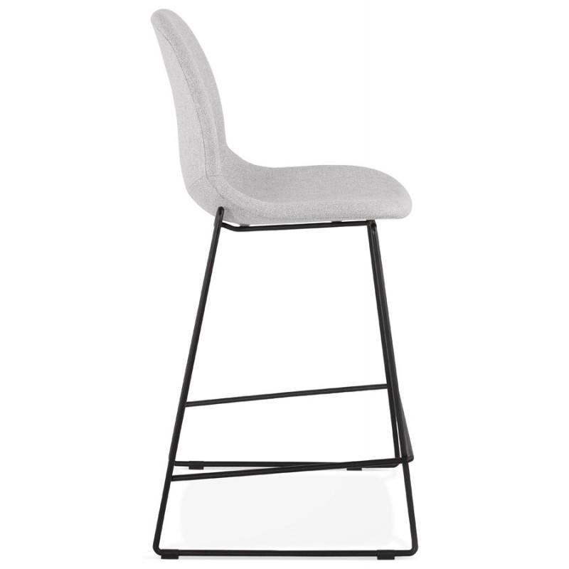 Tabouret de bar chaise de bar mi-hauteur design empilable en tissu DOLY MINI (gris clair) - image 46529