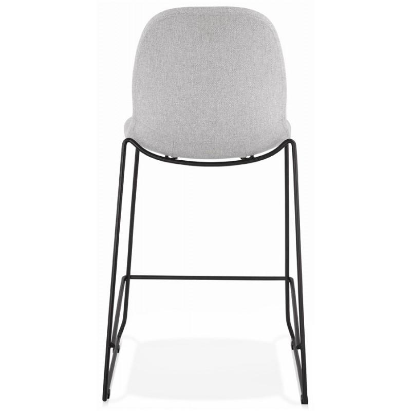Tabouret de bar chaise de bar mi-hauteur design empilable en tissu DOLY MINI (gris clair) - image 46531