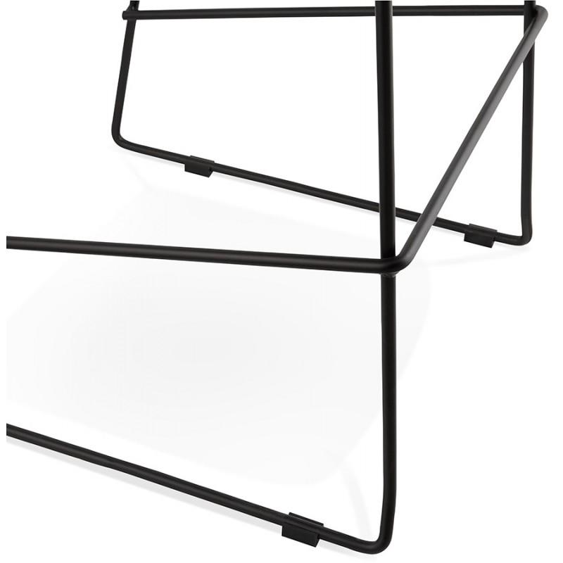 Silla de barra de bar de media altura diseño apilable en tejido DOLY MINI (gris claro) - image 46536