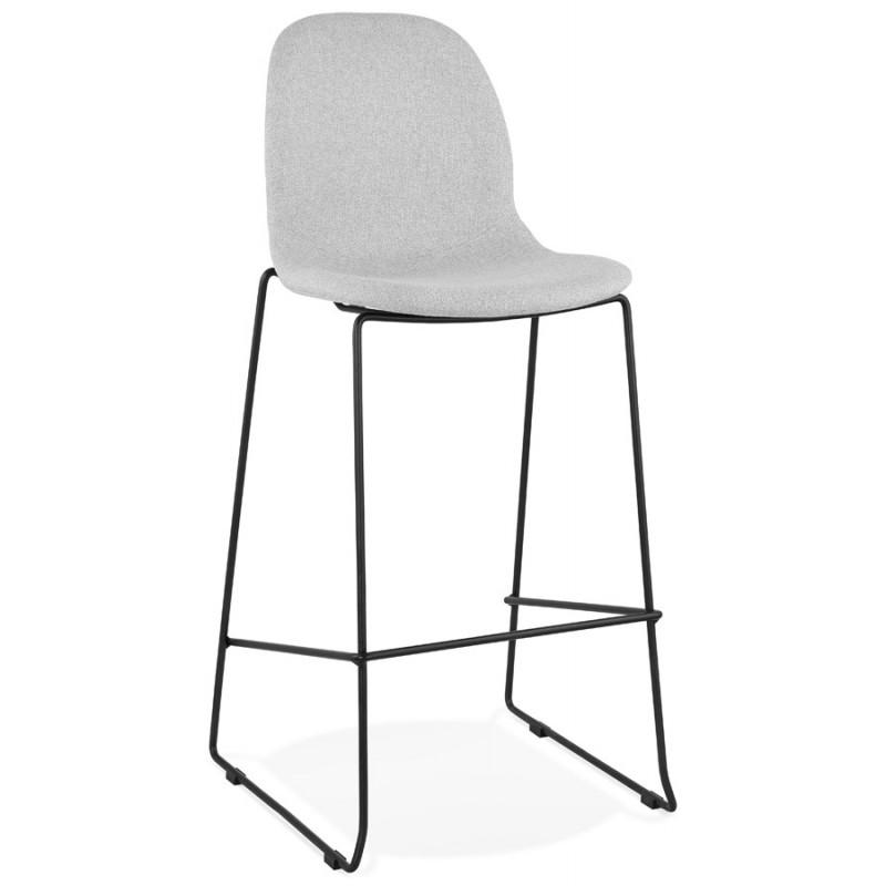 Sedia impilabile da bar design sgabello da bar in tessuto DOLY (grigio chiaro) - image 46538
