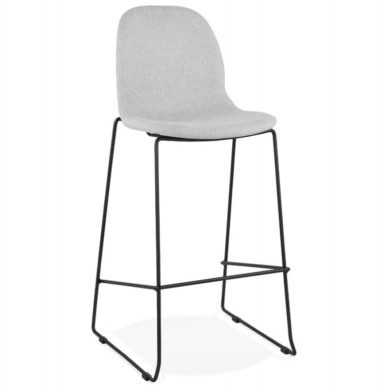 Bar stool design stackable bar chair in DOLY fabric (light gray)