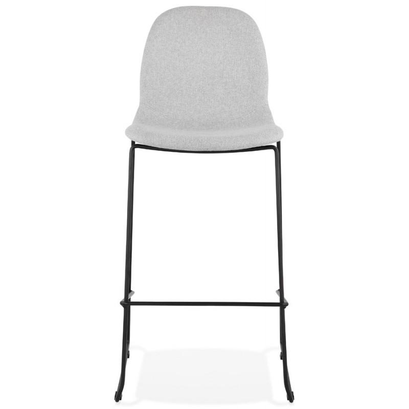 Sedia impilabile da bar design sgabello da bar in tessuto DOLY (grigio chiaro) - image 46539