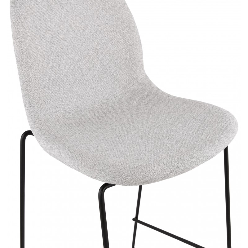 Bar stool design stackable bar chair in DOLY fabric (light gray) - image 46543