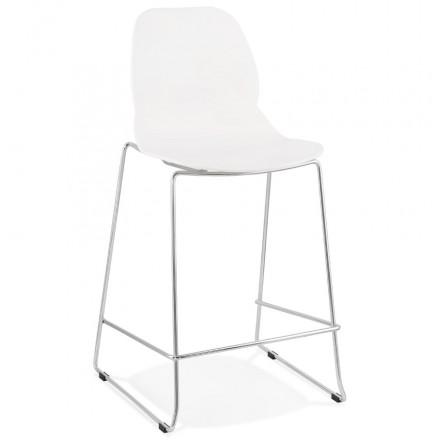 Bar bar set bar bar bar silla de media altura apilable diseño JULIETTE MINI (blanco)
