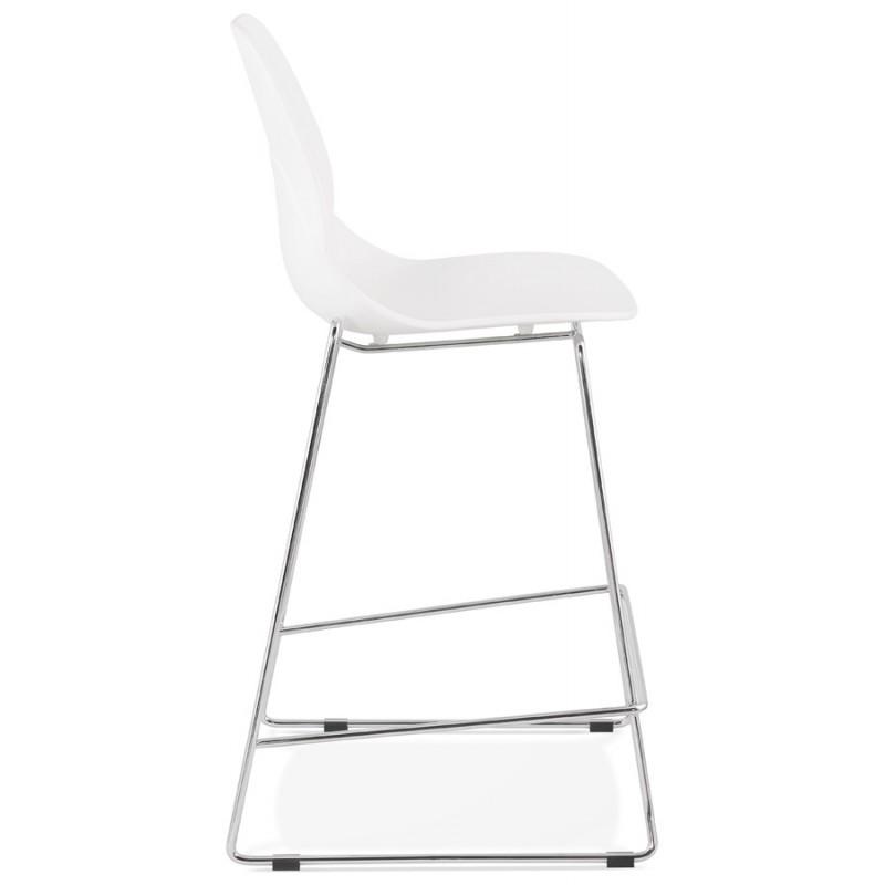 Tabouret de bar chaise de bar mi-hauteur design empilable JULIETTE MINI (blanc) - image 46551