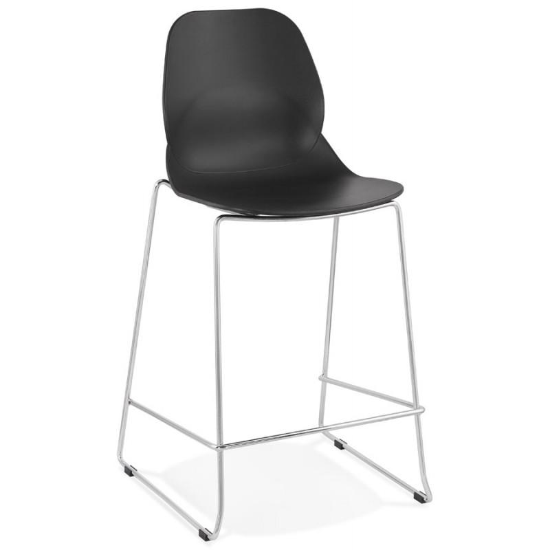 Tabouret de bar chaise de bar mi-hauteur design empilable JULIETTE MINI (noir) - image 46562