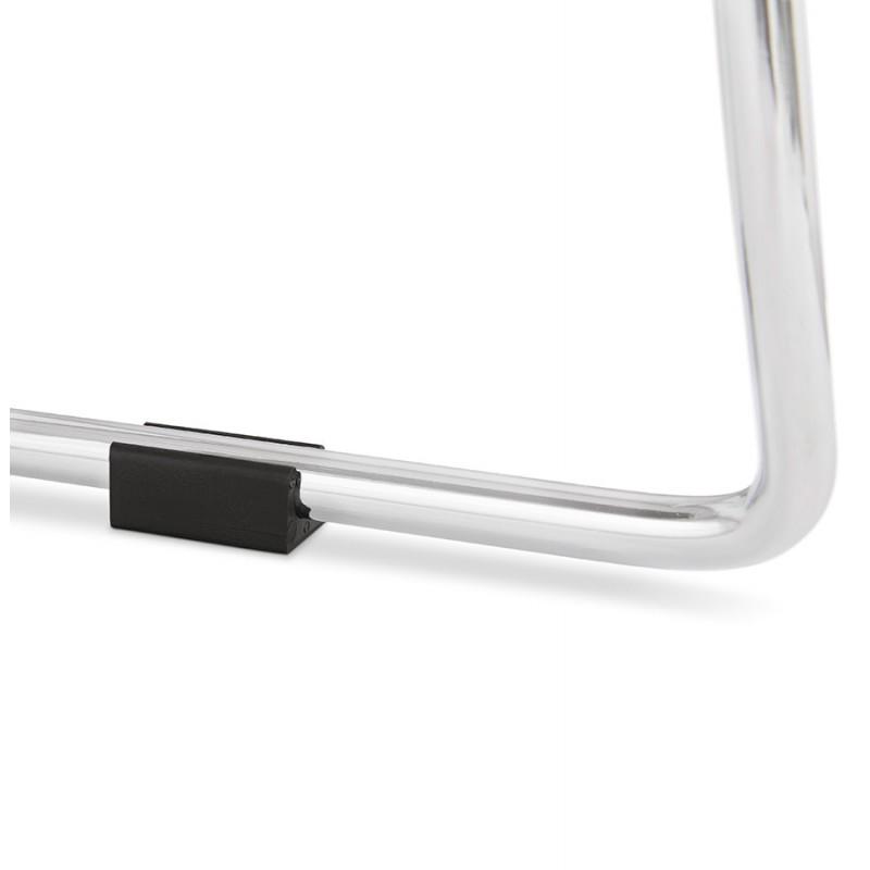 Tabouret de bar chaise de bar mi-hauteur design empilable JULIETTE MINI (noir) - image 46575