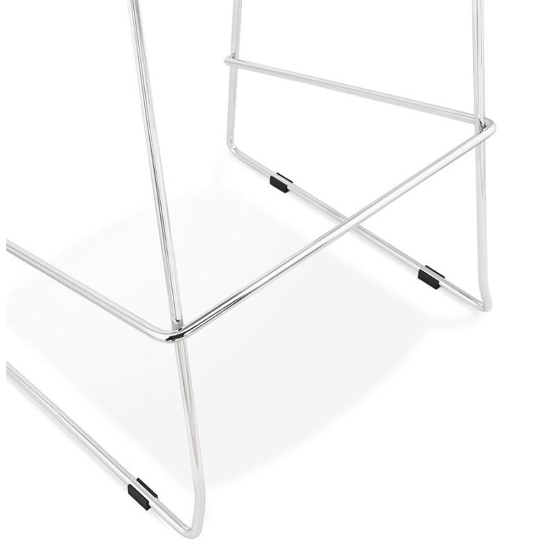 Tabouret de bar empilable design pieds métal chromé JULIETTE (blanc) - image 46598