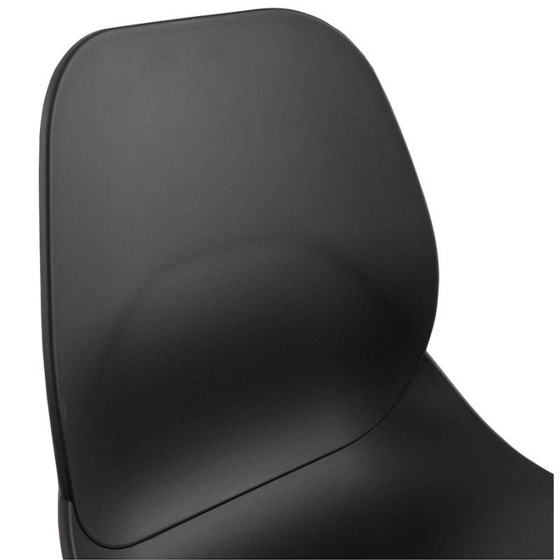 Tabouret de bar empilable design pieds métal chromé JULIETTE (noir) - image 46607